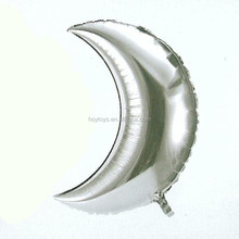china supplier 2015 hot sale new design silver moon shape foil mylar balloons