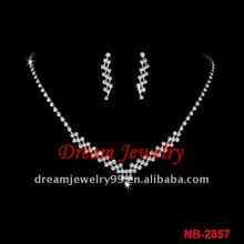 fashion wedding crystal necklace set 2012