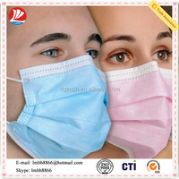 3 ply disposable dental plastic face mask/ medical consumables