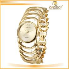 2015 kingsky k8023# hand watch for girl,gold watch bands,advertising wrist watch