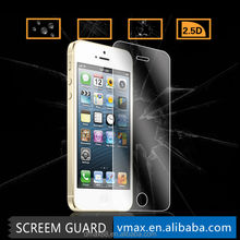 Ultra Thin Matte Anti Glare 9H 2.5D Anti Scratch Mobile Phone Clear Gold tempered glass screen protector for iPhone 5 5c 5s