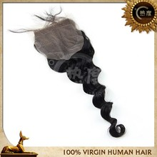 Shiny brightly and clean lace closure wholesale cambodian hair