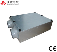 Duct heat exchanger machine for heat recovery