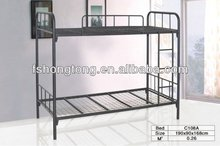 twin over queen size heavy duty double futon black metal bunk bed