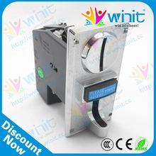 Reasonable price washing machine vending cpu electronic multi coin acceptor / coin selector / coin receiver spare parts