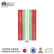 Wholesale colorful striped christmas ribbon gift packing