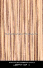 china hot sale zebrano timber laminate wood recon face veneer sheets for interior doors