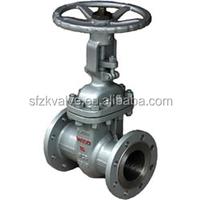industrial cast steel hard seal wedge pipeline gate valve