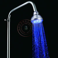 Color Changing Lighting Spray LED Overhead Shower with blue color