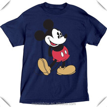 High Quality 100% Cotton Navy Blue Mens Mickey Mouse Head to Toe Plus Size T Shirt Custom Wholesale