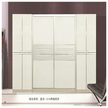 wooden bedroom wall wardrobe design with sliding door