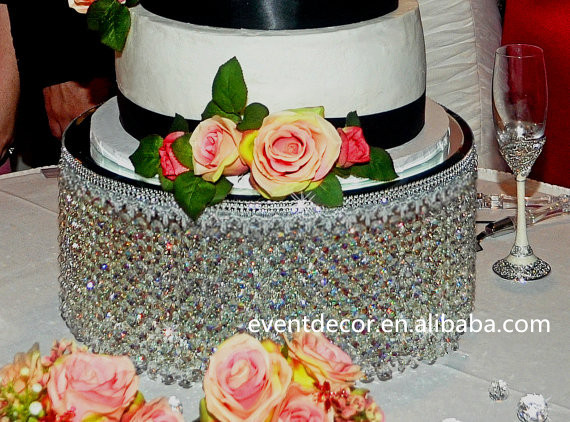Trade Cake Stands : Glass dome cake stand on pedestal bling crystal wedding