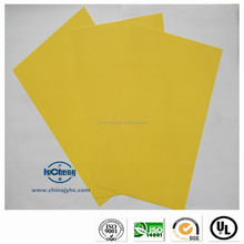 Fine quality flat yellow fiberglass insulation laminate sheet