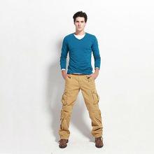 2014 marca moda elegante slim fit fotos de baggy calças dos homens
