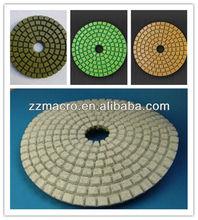 100mm*3mm Diamond wet granite polishing pad grinding tool for stones,concrete