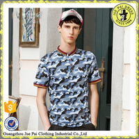 Wholesale mens camouflage polo t shirt
