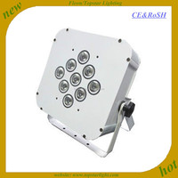 China Guangzhou factory cheap led par cans 9*3w rgbw 4in1 wireless flat light par led