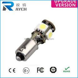 BA9S 5SMD 5050 Pure White CANBUS OBC No Error Interior T4W H6W LED Light Bulb