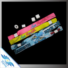 NEW TREND! Customized Fabric VIP slide lock Wristband with metal seal for Party