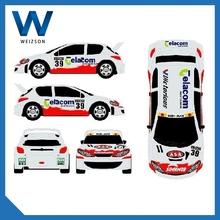 Mobil racing car pvc sticker ,car body side sticker design