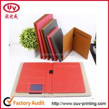 A5 white genuine leather portfolio
