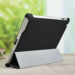 2015 Wholesale China New flexible folding stand up leather case for apple ipad 2