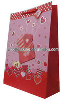 gift paper bag with hot stamping on the bag