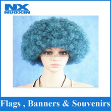 PET synthetic afro fans wig for south africa for football game