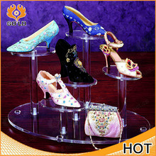 fashion made display rack for shoe store,acrylic wallet display rack,customized acrylic slatwall shoe display