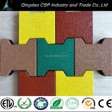 dogbone rubber floor tile and machine