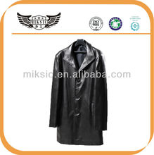2014 New European Style Real Men Long Leather Coat