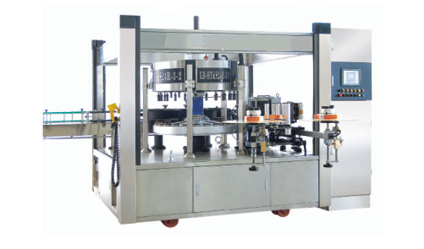 Automatic hot melt glue labeler