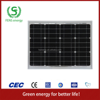 High quality 40w TUV/CE/IEC/MCS Approved Mono Crystalline Solar Panel,Portable Solar System Use,Solar Power System Use