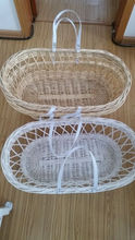 Natural Nursery wicker/ basket bassinet for baby