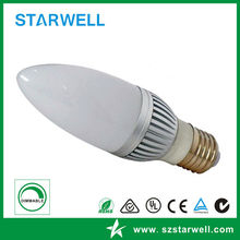 Top grade hot sell 3w smd led candle lights base e14