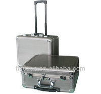 Trolley rolling aluminum flight case/China aluminum tool trolley case