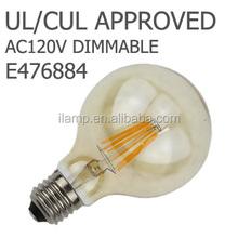 4 Watt G125 Opal/frost Filament LED Globe Edison Screw (E27) 2700K