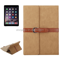 Bussiness Style Horizontal Flip Leather Case with 3-Folding Holder & Buckle for iPad Air 2 / 1 / iPad 6 / 5(light brown)