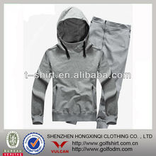 new design fleece cotton jogging sets with hoody for men