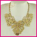 italiano jóias folheadas de ouro marca folha colar para acessórios de vestuário