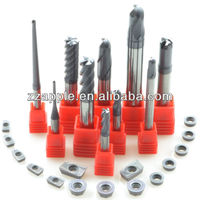 end mill cutter sizes/Solid Carbide end mills Heavy Cutting 4 Flutes end mill bits