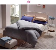 100% cotton plain solid color hotel bed sheets/ bed linen