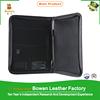 TYWEN - 0179 a5 portfolios with pen holder / leather ring binder portfolios / business black leather 2 pocket portfolios