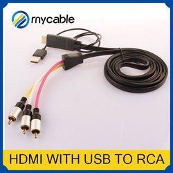 HDMI to 5 RCA RGB Component Cable mini hdmi to rca cable HDTV Cord Audio AV Video Converter