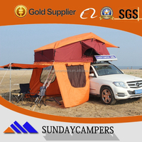 4x4 accessories Offroad 4WD high quality fiberglass polyester hard shell car foldable Roof Top Tent for sale