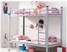 Parede de venda quente cama cama de metal design crianças cama de casal beliche para meninas