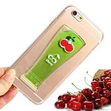 Hot selling ultra thin PC 3d liquid phone case for iphone 6
