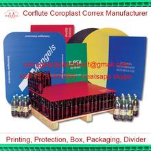 3mm 3.5mm pp corrugated plastic bottle spacer