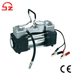 2015 High quality double cylinder 12v portable air compressor