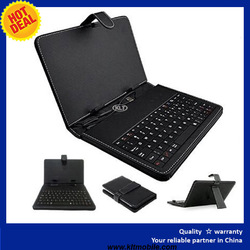 """Stand Leather Case Cover for Android Tablet 7"""" 8"""" 10"""" Universal with USB Keyboard"""